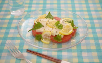 塩麹レモンの豆腐カプレーゼ