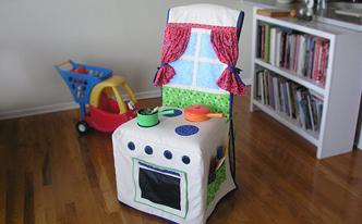 今ある家具にひと工夫!布で大型おもちゃを作っちゃお