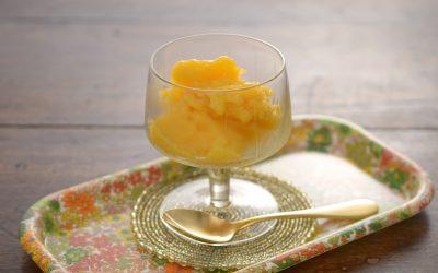 生姜の香るマンゴーパインシャーベット