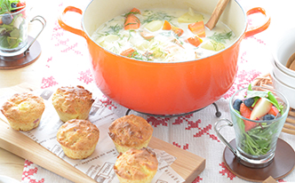 鍋ひとつでできるあったかスープが主役!ほっこり北欧スタイル編