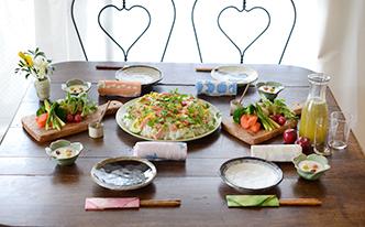 春色ちらし寿司と和風バーニャカウダでお花見ランチ編