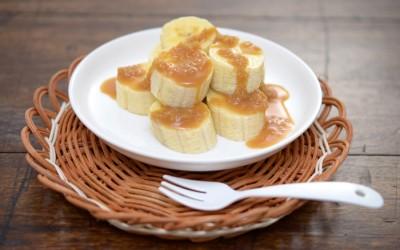 バナナのジンジャーキャラメルソース