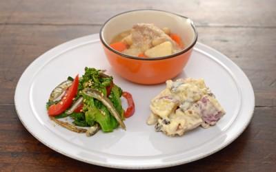 生姜の香るほっこり煮物で産育食ワンプレート