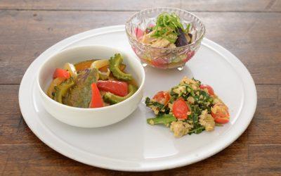 夏野菜でビタミンチャージの産育食ワンプレート