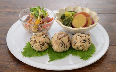 鉄分&食物繊維しっかり!秋の野菜で産育食ワンプレート